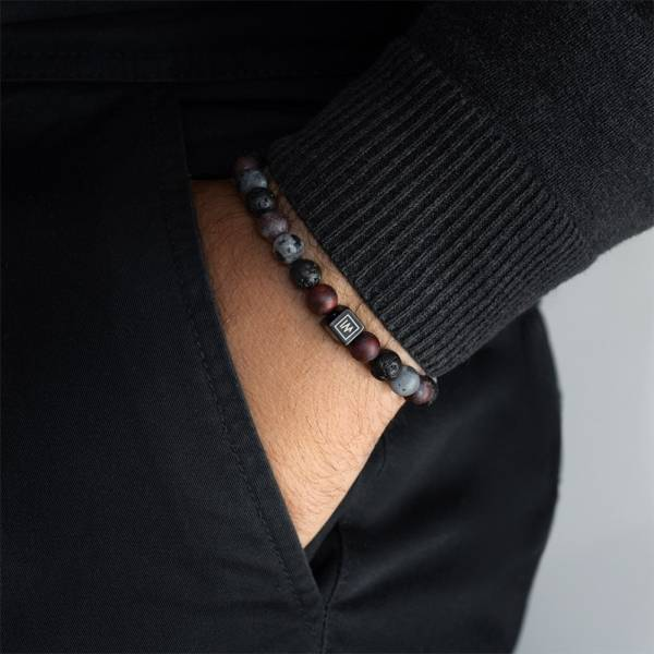 Ogun Beaded Stretch Bracelet on man hand