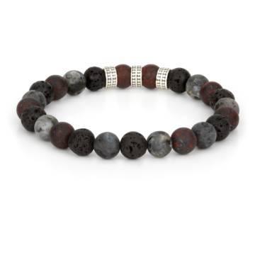 ogun silver trio beaded stretch bracelet 2