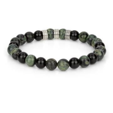 ombiasa silver trio beaded stretch bracelet 2