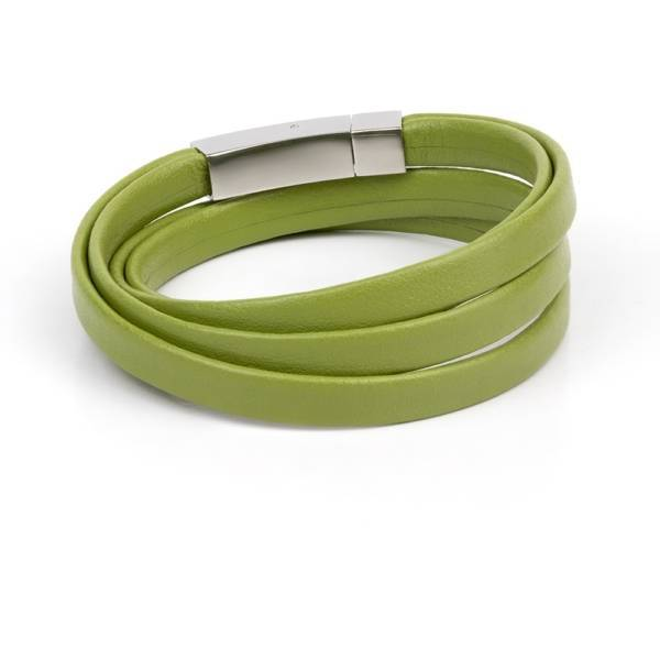 Pistachio Leather Bracelet
