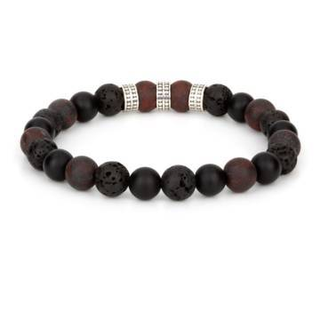prometheus silver trio beaded stretch bracelet 2
