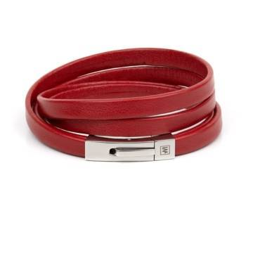 Red Passion Leather Bracelet