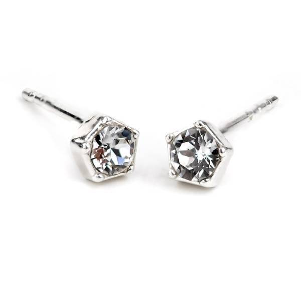 """Star"" - 925 Sterling Silver Stud Earrings with Swarovski Crystal"