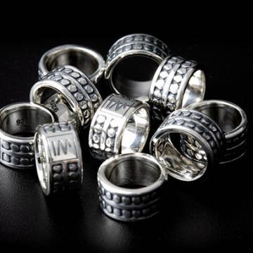 "Sterling Silver 925 ""Dots"" Spacers handcrafted in Bali"