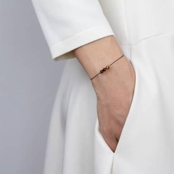 tiger eye mini cosmo beaded bracelet 2