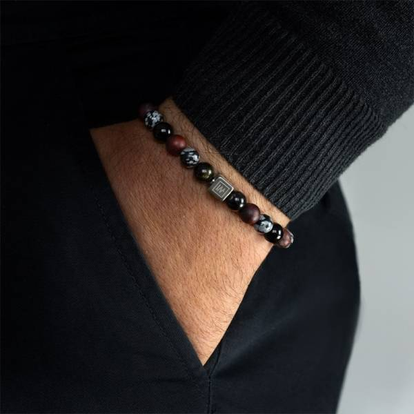 Time For Action Beaded Stretch Bracelet